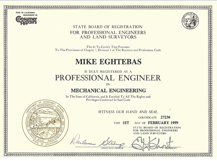 Resume Mike Eghtebas